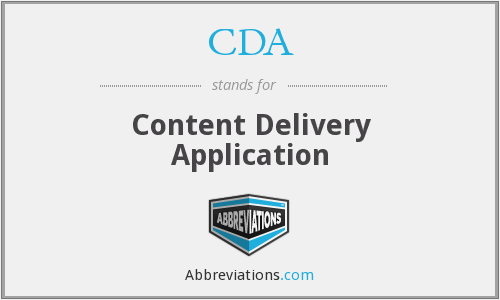 CDA - Content Delivery Application