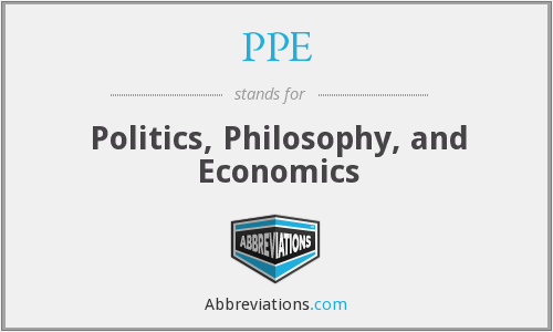 PPE - Politics, Philosophy, and Economics