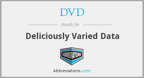 DVD - Deliciously Varied Data