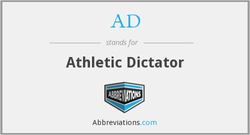 AD - Athletic Dictator