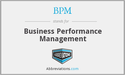 BPM - Business Performance Management