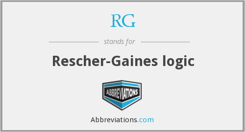 RG - Rescher-Gaines logic