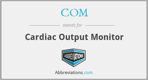 COM - Cardiac Output Monitor