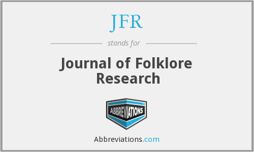 JFR - Journal of Folklore Research