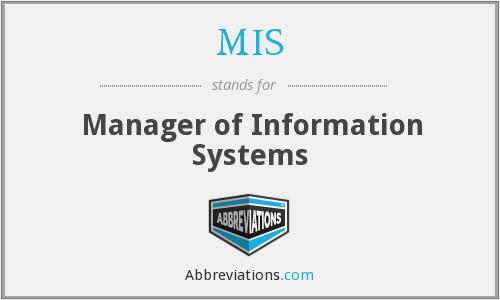 MIS - Manager of Information Systems