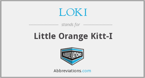 LOKI - Little Orange Kitt-I