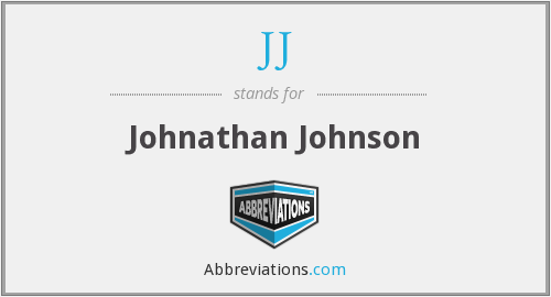 JJ - Johnathan Johnson