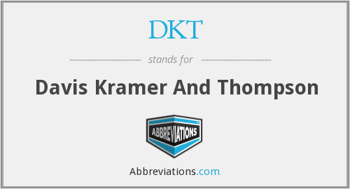 DKT - Davis Kramer And Thompson