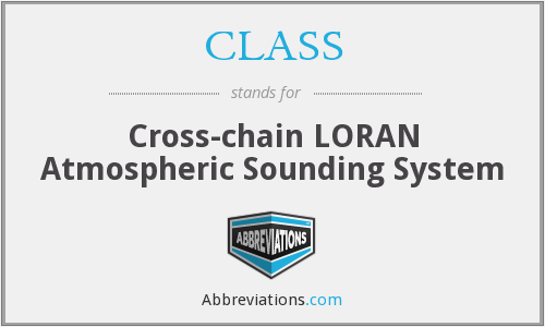 CLASS - Cross-chain LORAN Atmospheric Sounding System