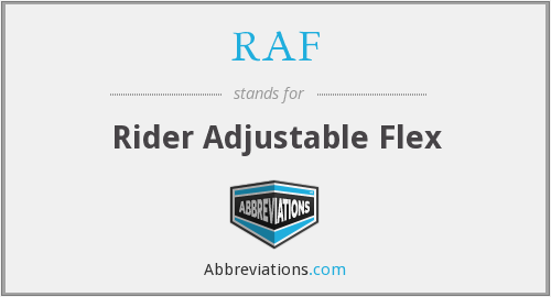 RAF - Rider Adjustable Flex