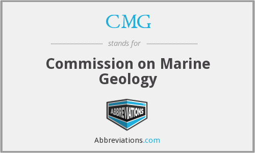 CMG - Commission on Marine Geology