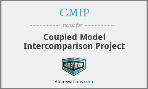 CMIP - Coupled Model Intercomparison Project