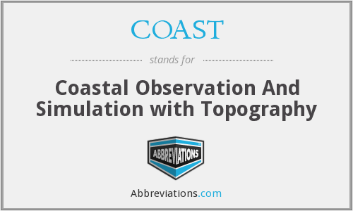 COAST - Coastal Observation And Simulation with Topography