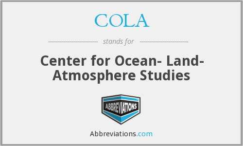COLA - Center for Ocean- Land- Atmosphere Studies