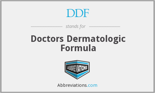 DDF - Doctors Dermatologic Formula
