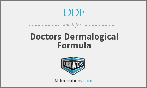DDF - Doctors Dermalogical Formula