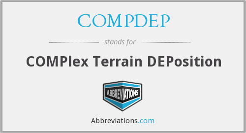 COMPDEP - COMPlex Terrain DEPosition