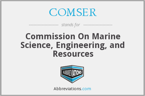 What does COMSER stand for?