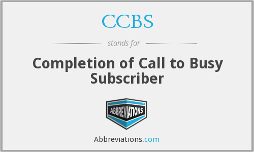 CCBS - Completion of Call to Busy Subscriber