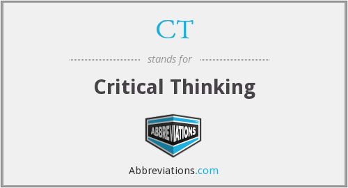 CT - Critical Thinking