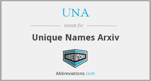 UNA - Unique Names Arxiv