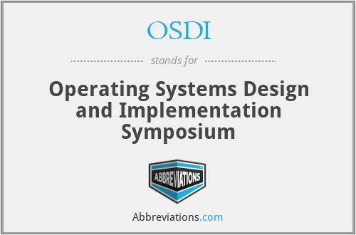 Osdi Operating Systems Design And Implementation Symposium