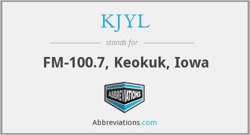 What does KJYL stand for?