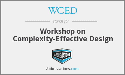 WCED - Workshop on Complexity-Effective Design