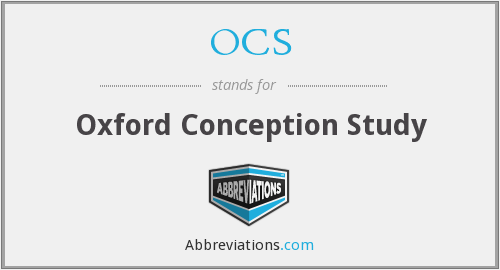 OCS - Oxford Conception Study