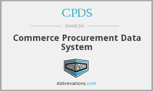 CPDS - Commerce Procurement Data System