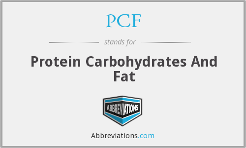 PCF - Protein Carbohydrates And Fat