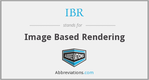 IBR - Image Based Rendering