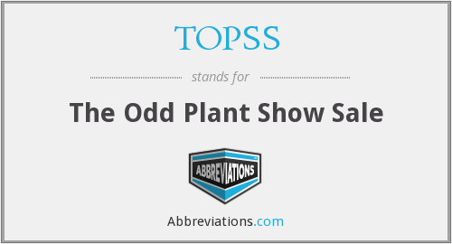 TOPSS - The Odd Plant Show Sale