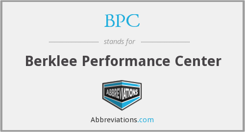 BPC - Berklee Performance Center