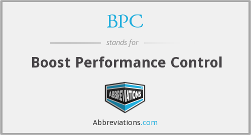 BPC - Boost Performance Control