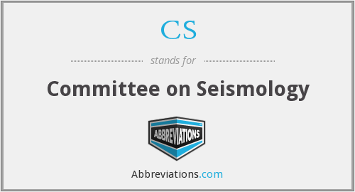 CS - Committee on Seismology