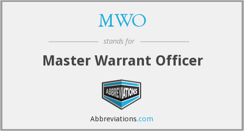 MWO - Master Warrant Officer
