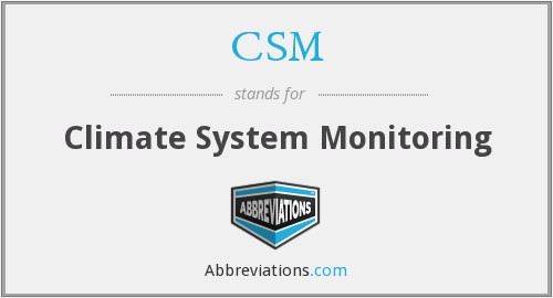CSM - Climate System Monitoring