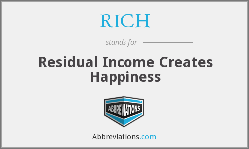 RICH - Residual Income Creates Happiness