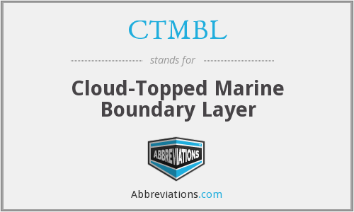 CTMBL - Cloud-Topped Marine Boundary Layer
