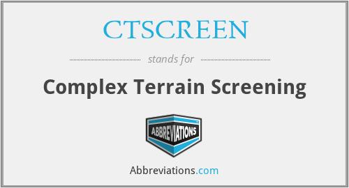CTSCREEN - Complex Terrain Screening