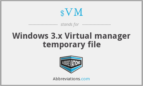 $VM - Windows 3.x Virtual manager temporary file