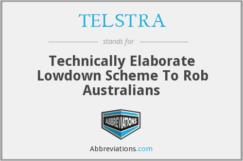 What does TELSTRA stand for?