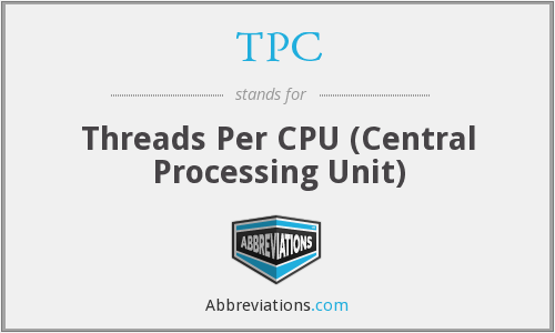 TPC - Threads Per CPU (Central Processing Unit)
