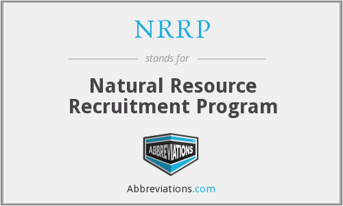 What does NRRP stand for?