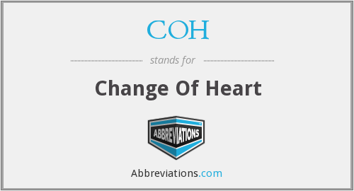 COH - Change Of Heart