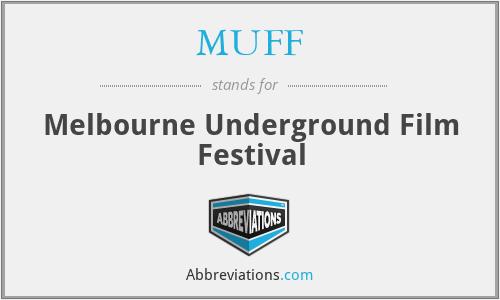 MUFF - Melbourne Underground Film Festival