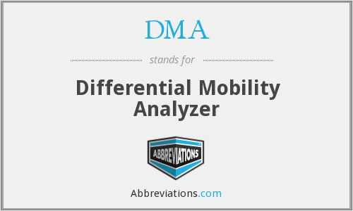 DMA - Differential Mobility Analyzer