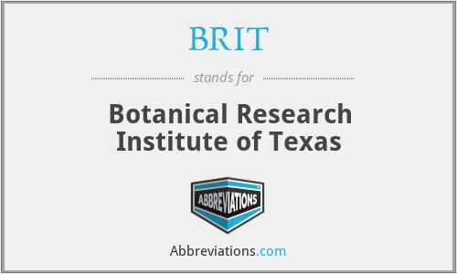 BRIT - Botanical Research Institute of Texas
