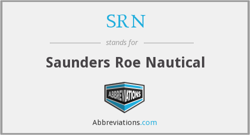 SRN - Saunders Roe Nautical